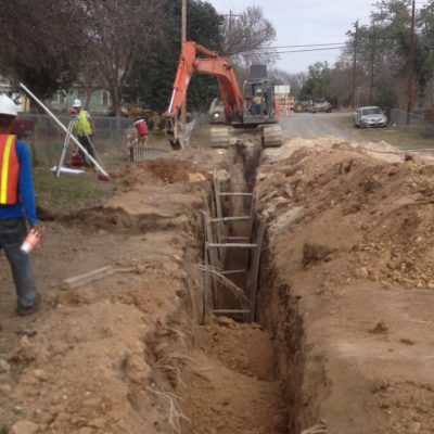 Central and Eastside Wastewater Collection Project - City of Ingram, 2014